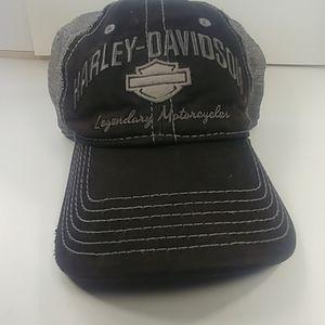Harley-Davidson Distressed Trucker Cap Black